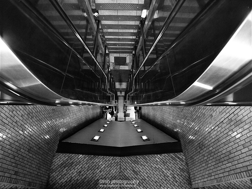 Upside Down Escalator New York City Underground