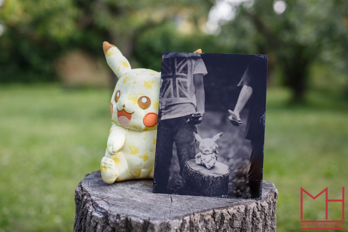 Pokemon go – Pikachu - wet plate - Nassplatte